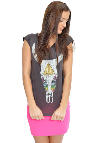 Painted Pretty Skull Tee