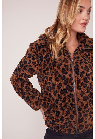 Kitty Come Close Leopard Print Jacket
