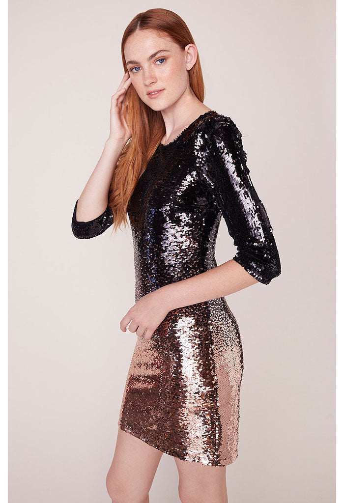 Ombre You Stay Ombre Sequin Dress