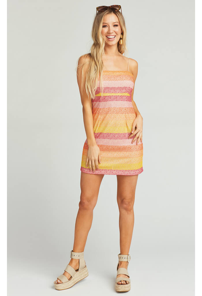 Clarissa Dress ~ Fiesta Sunset Stripe