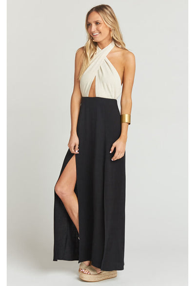 Millie Maxi Dress ~ Domino Colorblock