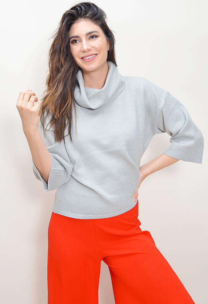 Cute Commute Sweater - Heather Grey