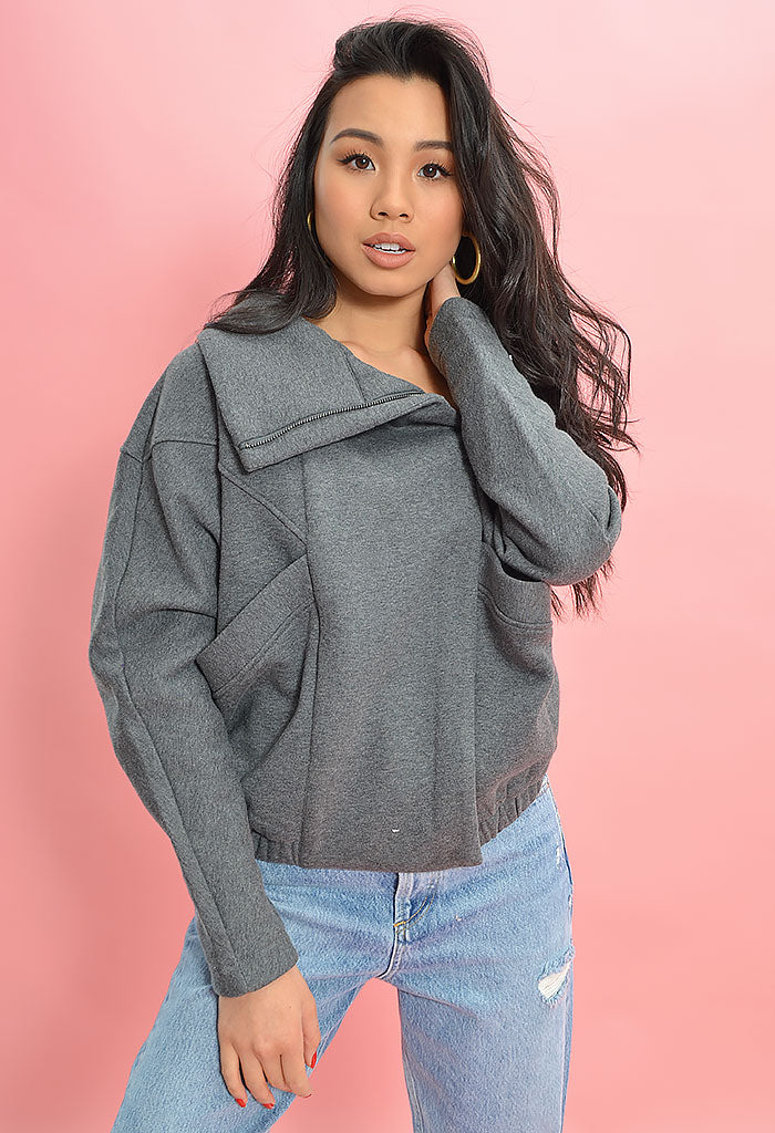 Brin Sweater-Heather Grey