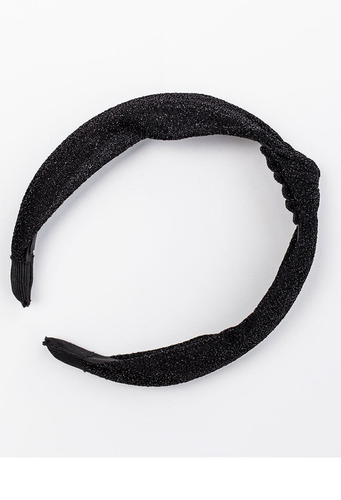Blair Headband - Black Sparkle