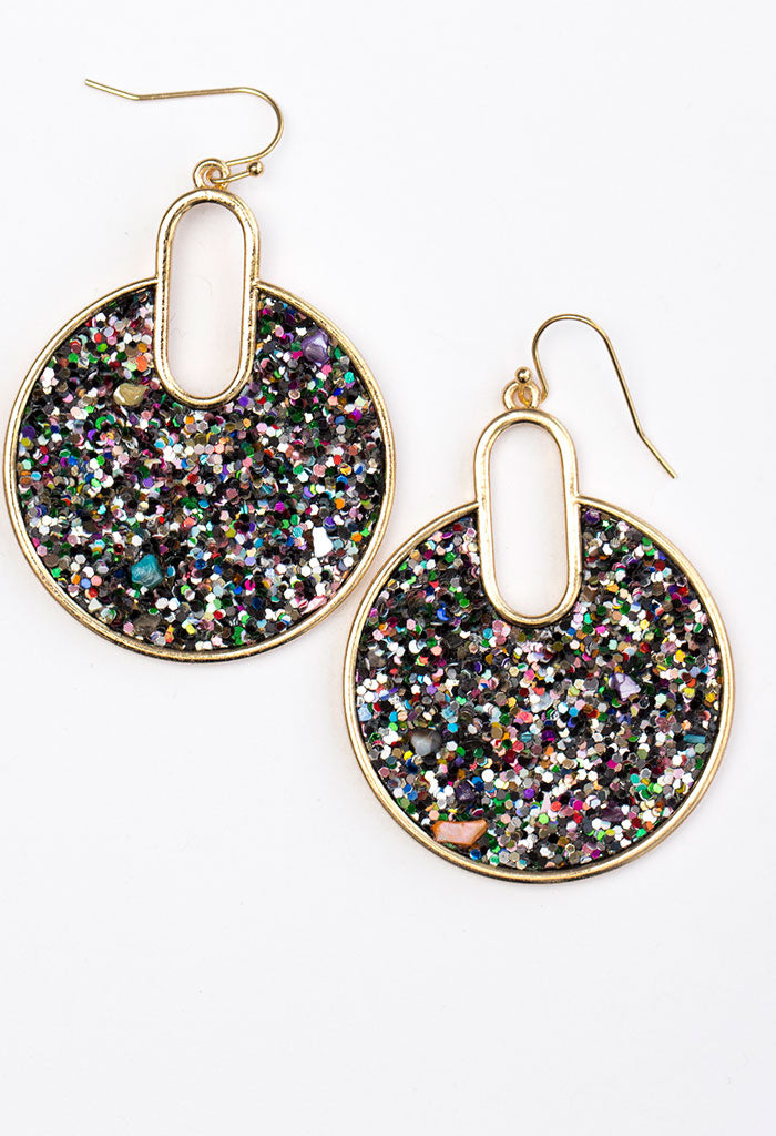 Confetti Groove Earrings - Rainbow