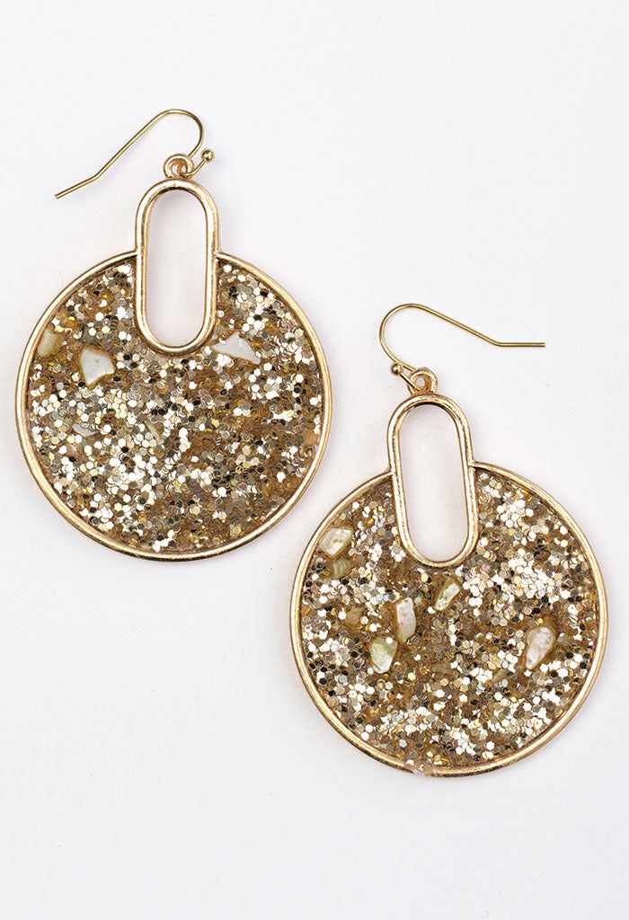 Confetti Groove Earrings - Gold