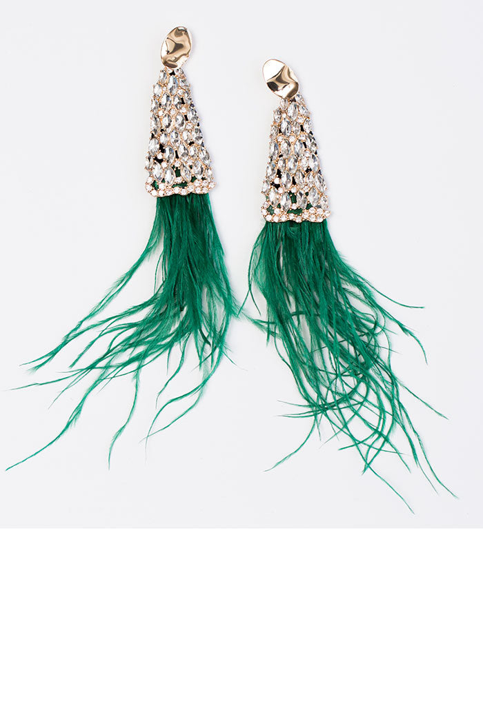 Born to Sparkle Earrings - Green