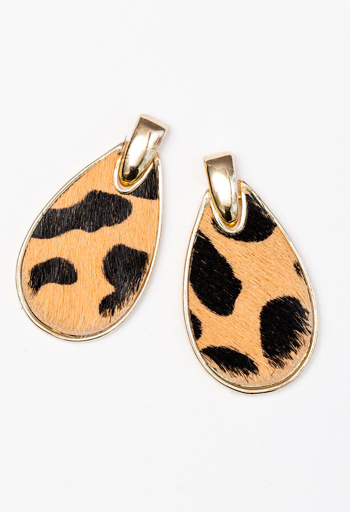 Hide & Seek Earrings - Cheetah