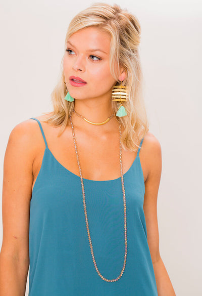 Tiki Bar Druzy Earring - Mint