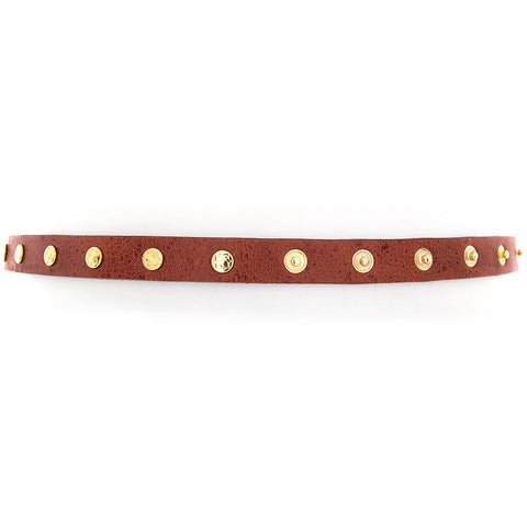 Cala Snap-Stud Wrap-Around Belt, Rust