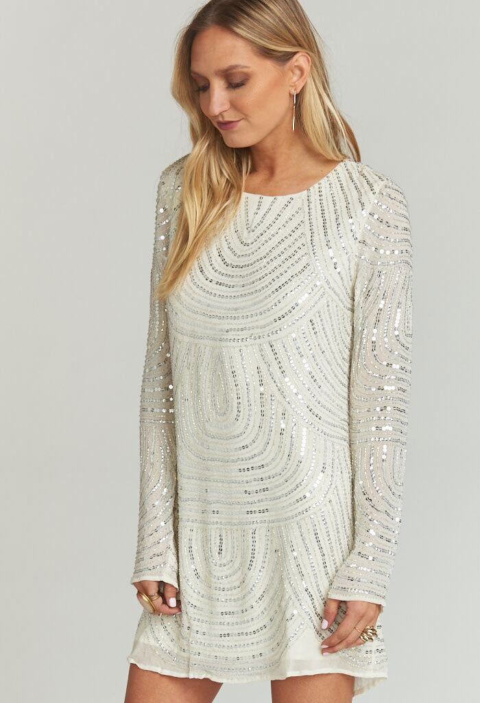 IGGY DRESS ~ FROSTY BEADED SEQUINS