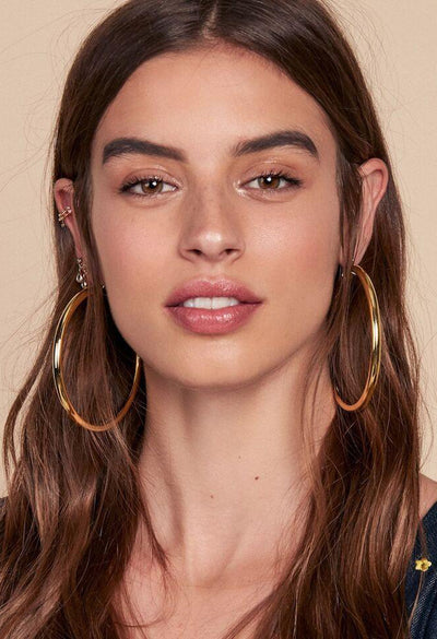 XL Amalfi Hoops - Gold