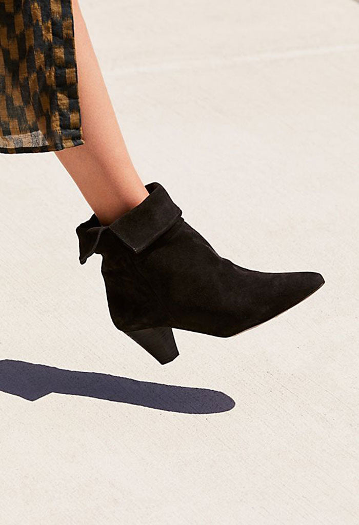 Adella Heel Boot - Black