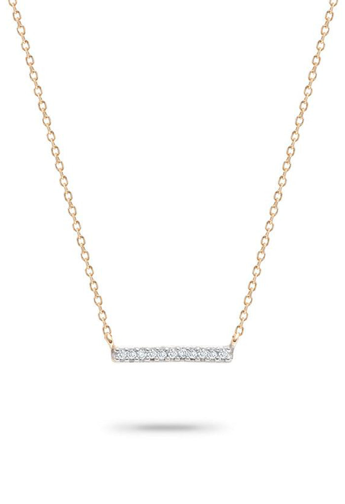 Adina Reyter Pavé Bar Necklace-14k Gold
