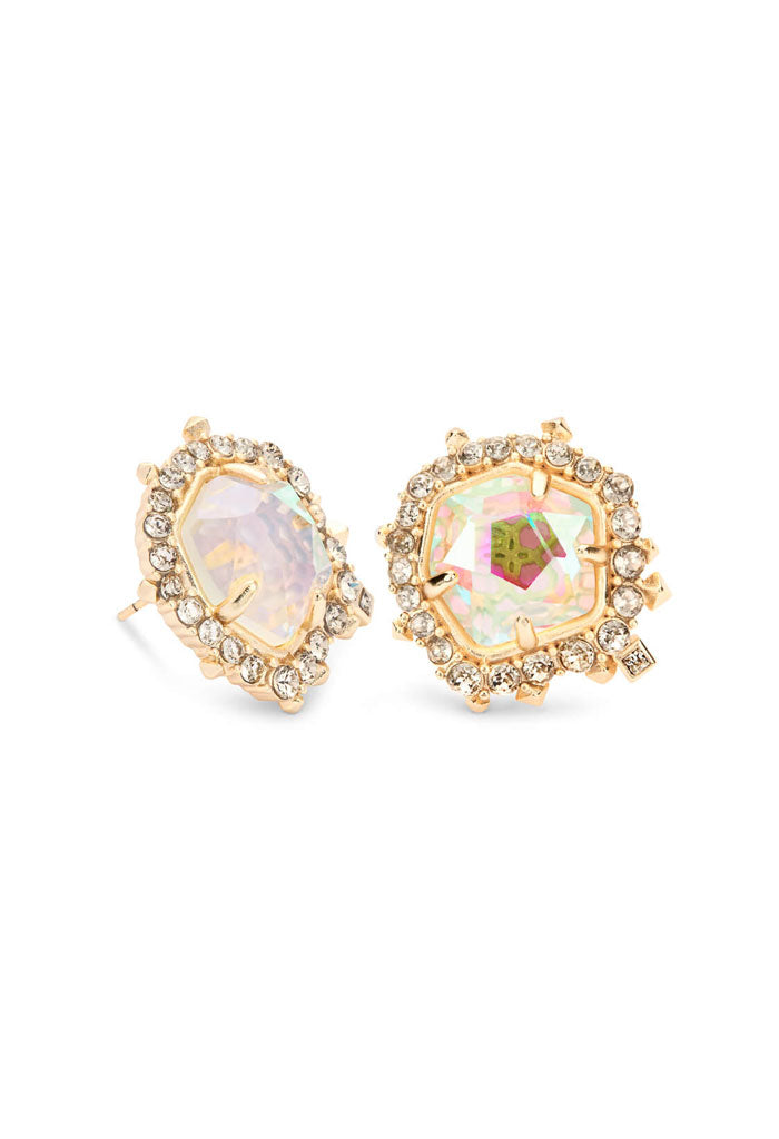 Abelia Gold Stud Earrings