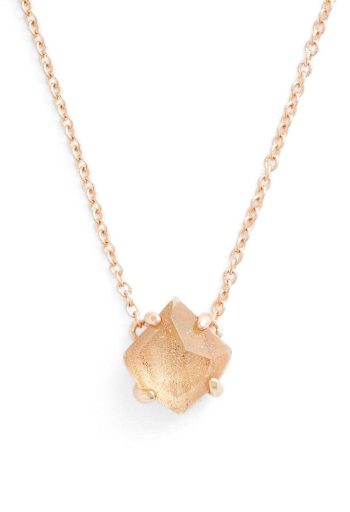 Annaliese rose gold pendant necklace gold dusted glass kk bloom annaliese rose gold pendant necklace gold dusted glass aloadofball Image collections