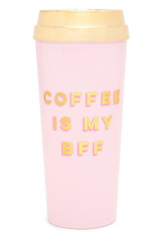 hot stuff deluxe thermal mug - coffee is my bff
