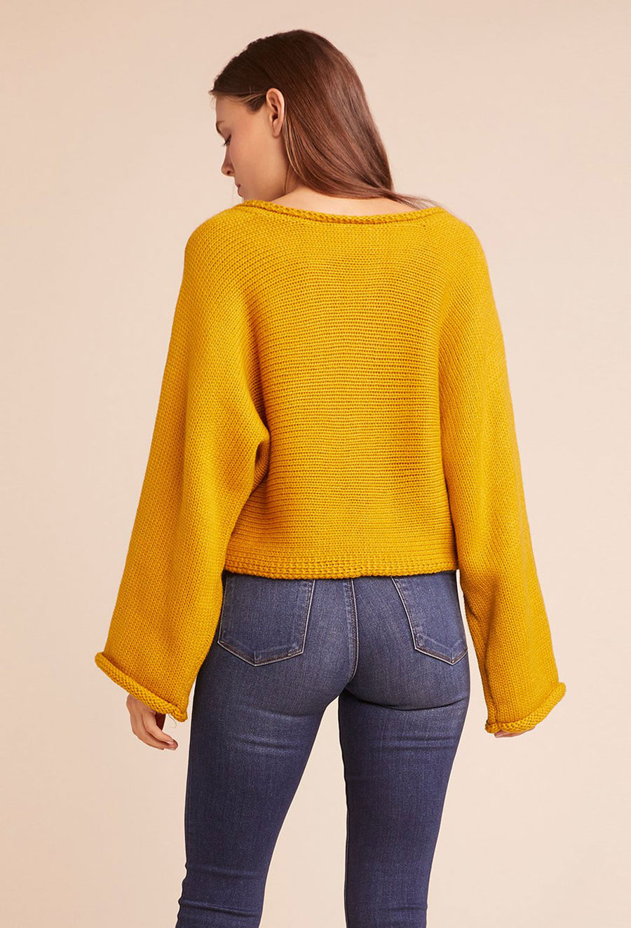 Talk Dropped Sweater - Marigold