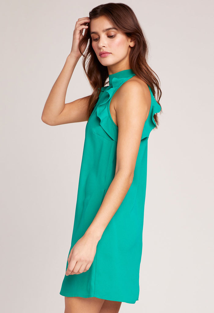 Necks Question Halter Dress