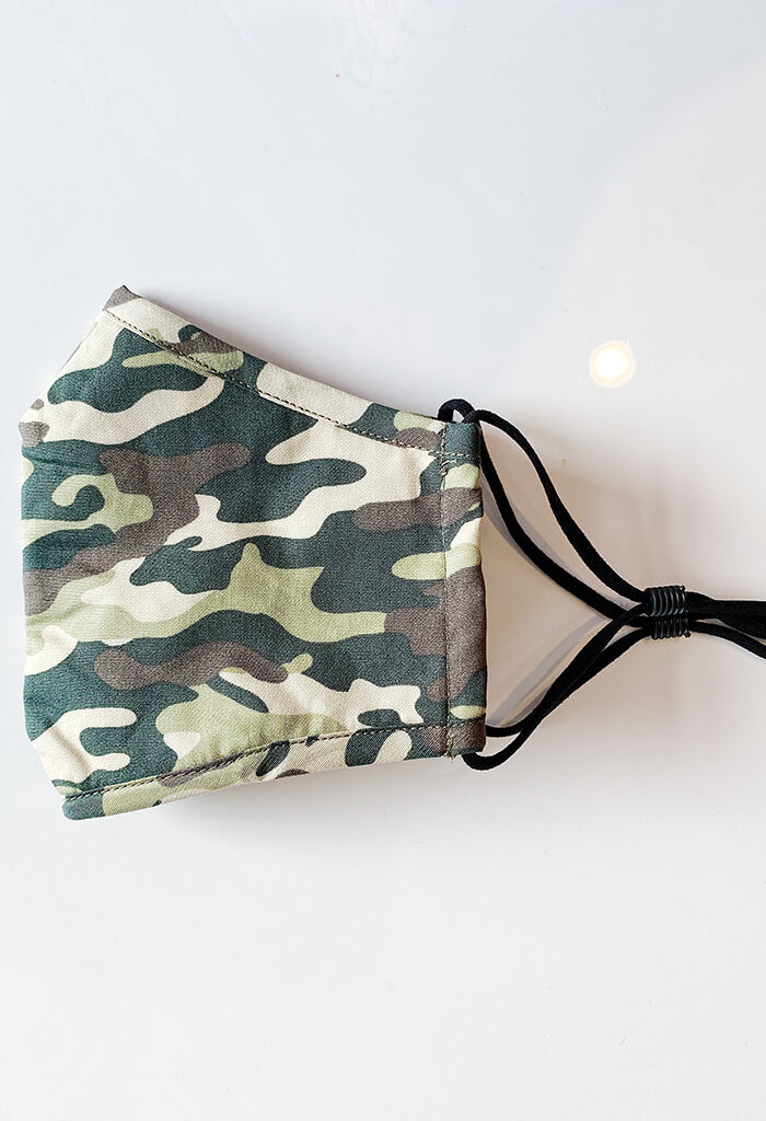 KK Bloom Boutique Camo Mask-side fold