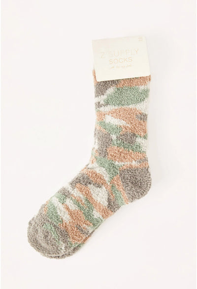 Z Supply Plush Camo Socks
