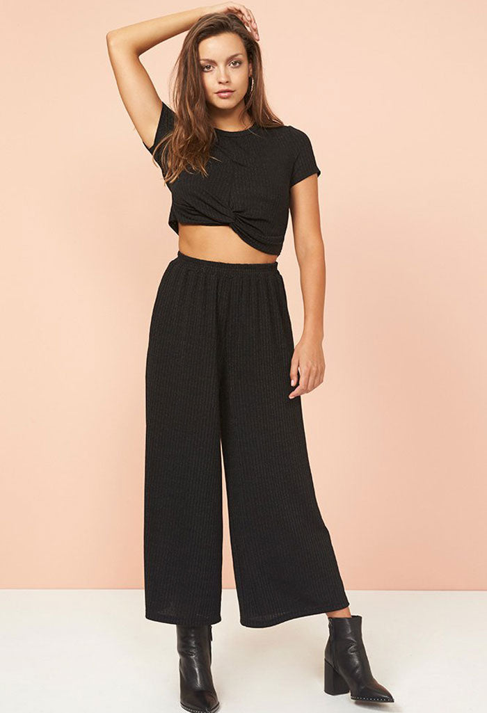 Metallic Stripe Culotte
