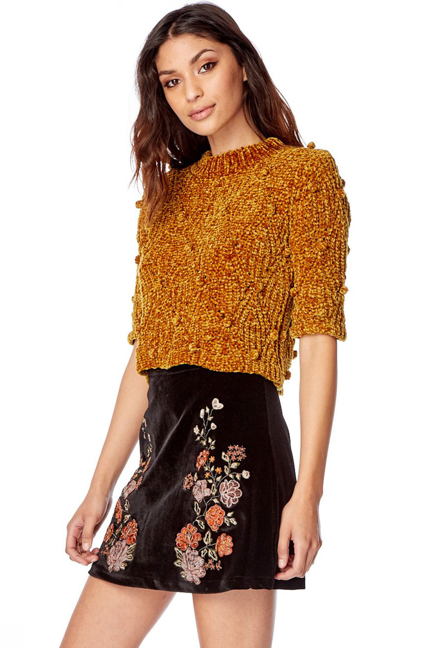 Golden Child Sweater Crop Top