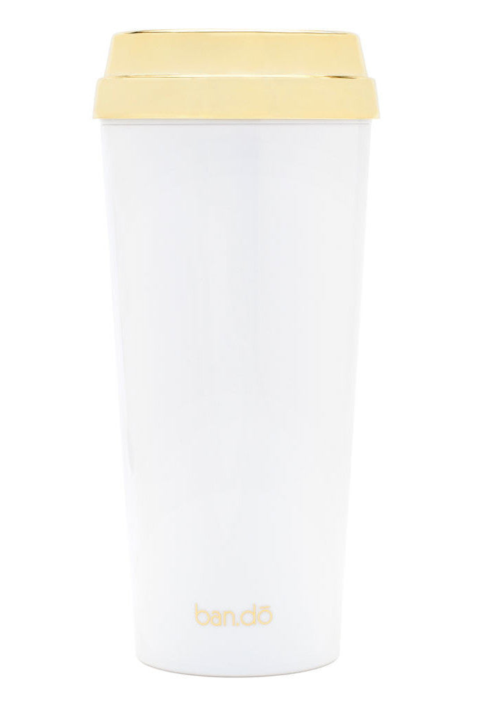 Hot Stuff Thermal Mug-But First Coffee Metallic Gold