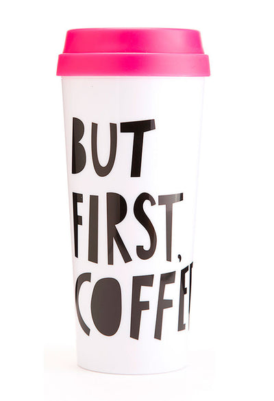 ban.do-16 ounce thermal mug-but first coffee