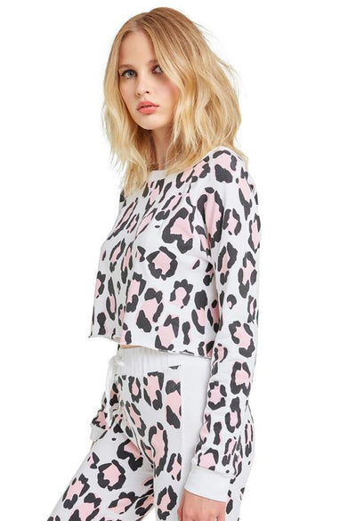 Blush Leopard Beach House Crop