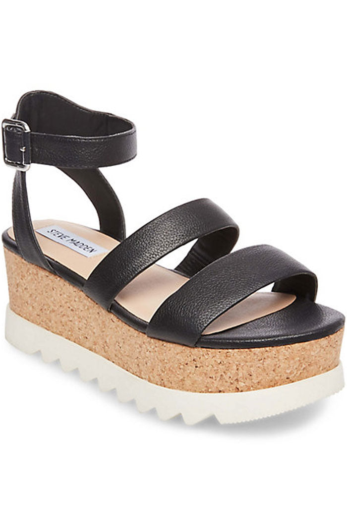 KIRSTEN WEDGES - BLACK