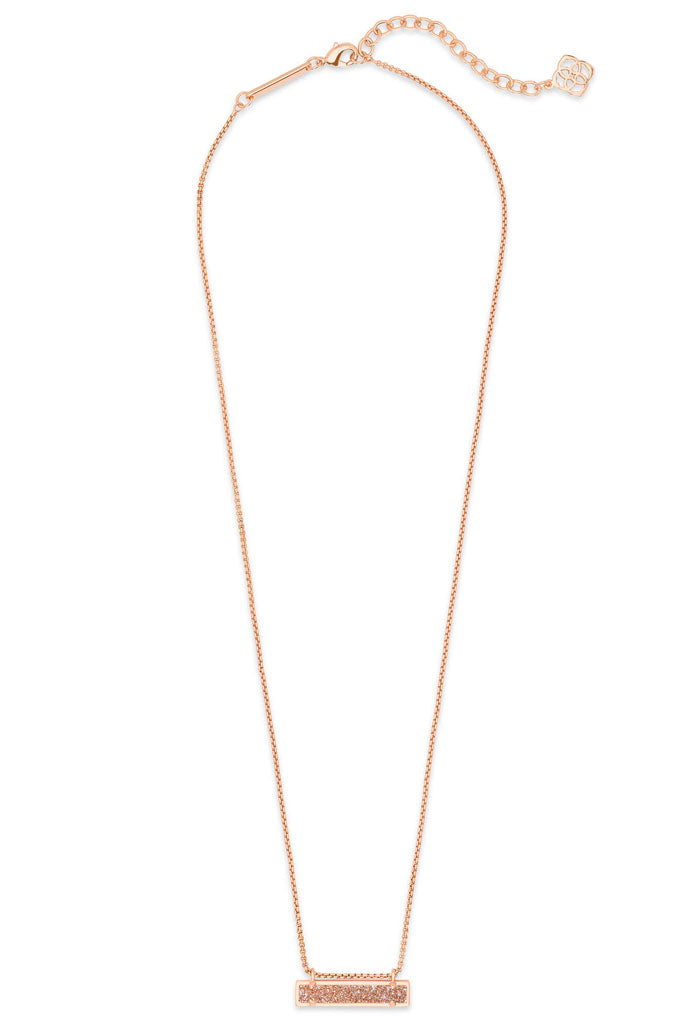 Leanor rose gold pendant necklace in sand drusy kk bloom boutique leanor rose gold pendant necklace in sand drusy aloadofball Image collections