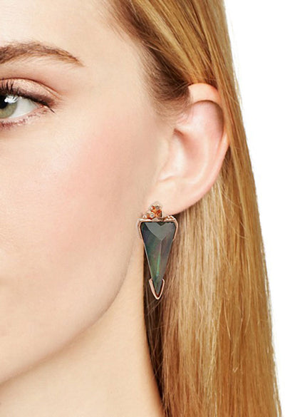 Libby Statement Earring - Rose Gold