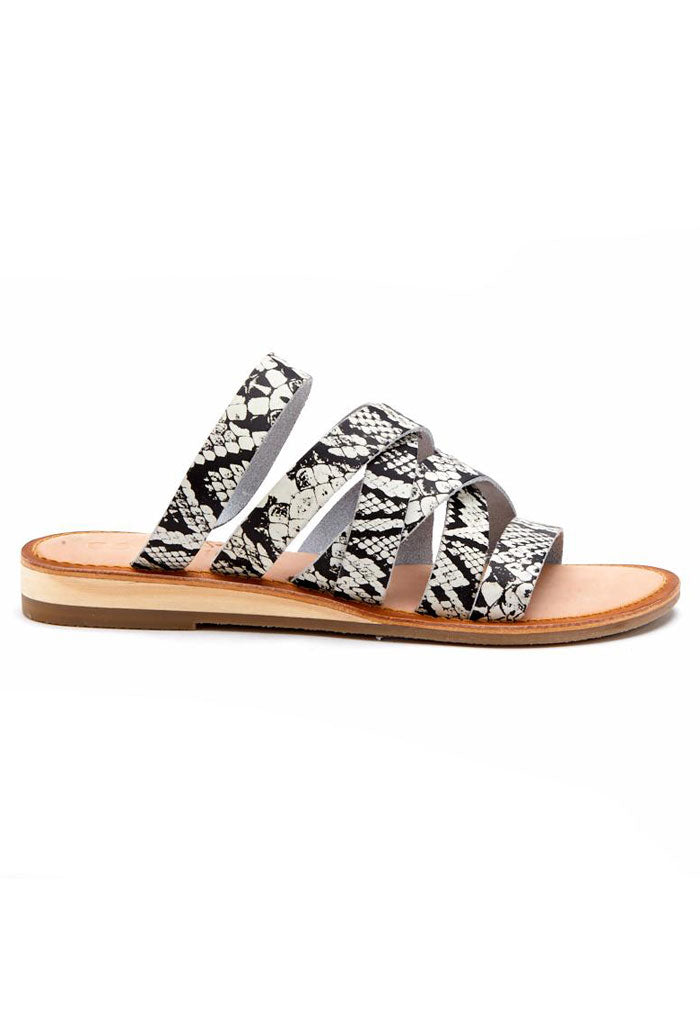 Ladylike Sandals - White Snake