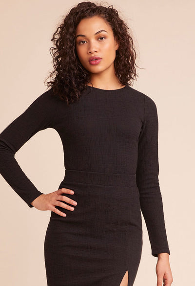 New York Nights Top - Black