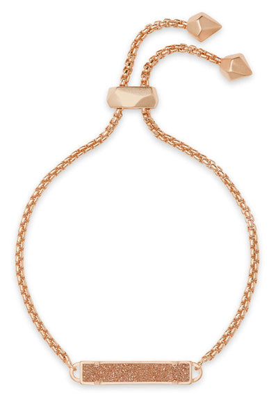 Stan Rose Gold Adjustable Bracelet in Sand Drusy