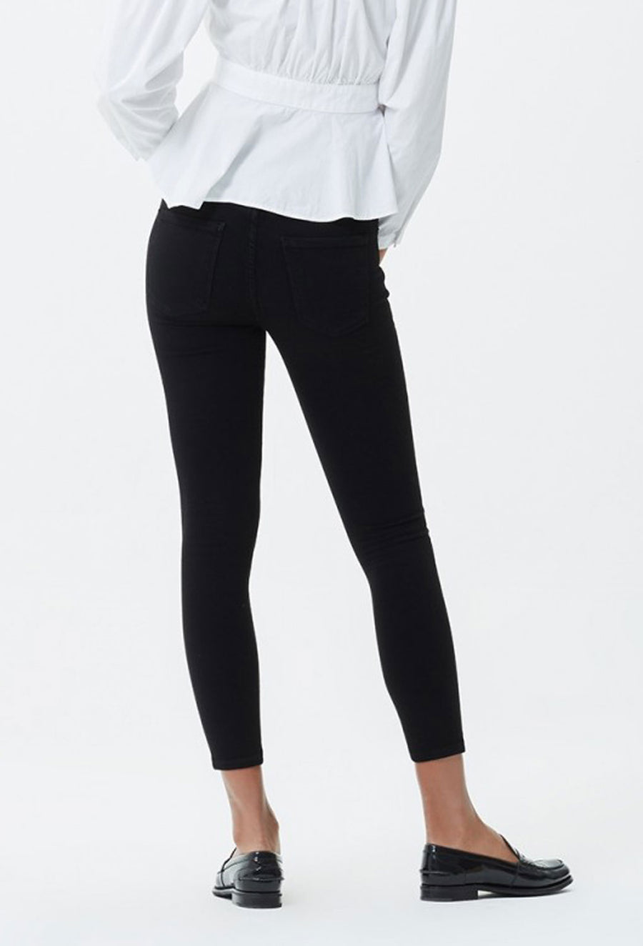 Rocket Crop High Rise Skinny - Black