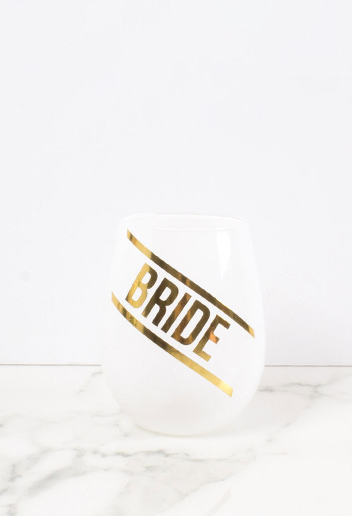 Stemless Wine Glass-Bride