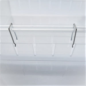 "Drawer Organizer, 12 Adjustable Dividers, Clear Plastic, Set of 4 Trays (2 Big and 2 Small) 13.8""Length"