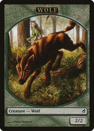 Wolf Token [Lorwyn Tokens] | Marvin's Army Gaming