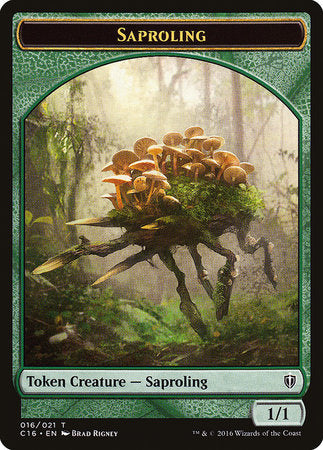 Saproling // Spirit (White) Double-sided Token [Commander 2016 Tokens] | Marvin's Army Gaming