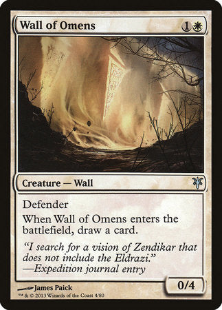 Wall of Omens [Duel Decks: Sorin vs. Tibalt] | Marvin's Army Gaming