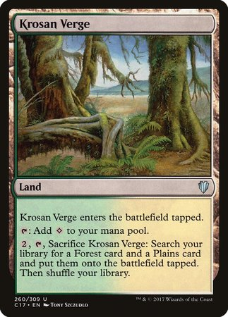 Krosan Verge [Commander 2017] | Marvin's Army Gaming