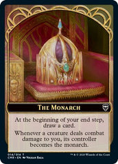 The Monarch // Treasure Double-sided Token [Commander Legends] | Marvin's Army Gaming