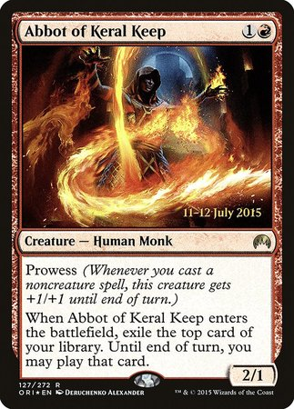 Abbot of Keral Keep [Magic Origins Promos] | Marvin's Army Gaming