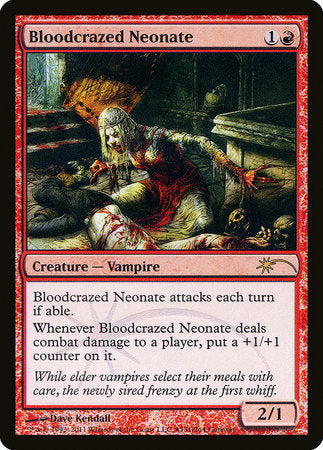 Bloodcrazed Neonate [Wizards Play Network 2011] | Marvin's Army Gaming