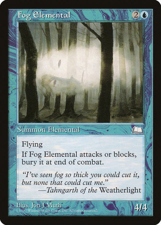 Fog Elemental [Weatherlight] | Marvin's Army Gaming