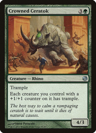 Crowned Ceratok [Duel Decks: Heroes vs. Monsters] | Marvin's Army Gaming