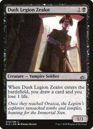 Dusk Legion Zealot [Rivals of Ixalan] | Marvin's Army Gaming