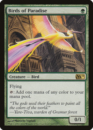 Birds of Paradise [Magic 2011] | Marvin's Army Gaming